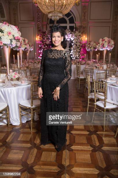 Marisela Federici attends the wedding of Earl Vittorio Palazzi Trivelli And Isabelle Adriani on February 22 2020 in Rome Italy