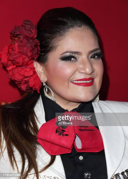 Marisela Martinez of Mariachi 'Lindas Mexicanas' attends 'HE MATADO A MI MARIDO' Los Angeles Premiere at Harmony Gold Theatre on February 26 2019 in...