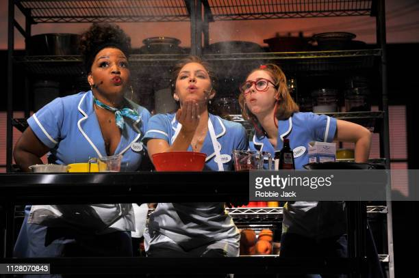 Marisha Wallace as Becky Katharine McPhee as Jenna and Laura Baldwin as Dawn in Jessie Nelson's Waitress directed by Diane Paulus at The Adelphi...