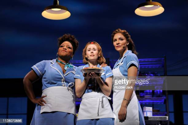 Marisha Wallace as Becky Laura Baldwin as Dawn and Katharine McPhee as Jenna in Jessie Nelson's Waitress directed by Diane Paulus at The Adelphi...