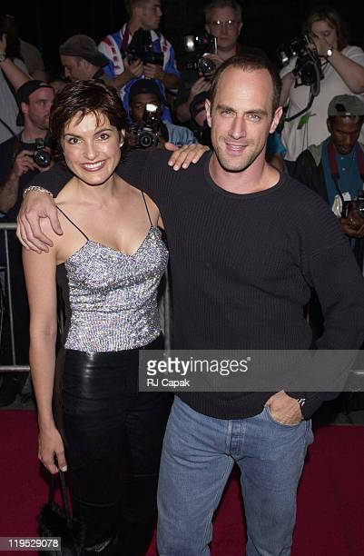 Mariska Hargitay and Chris Meloni during Coyote Ugly New York Premiere at Ziegfeld Theatre in New York City New York United States