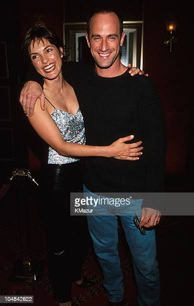 Mariska Hargitay and Christopher Meloni during Coyote Ugly New York Premiere at Ziegfeld Theatre in New York City New York United States