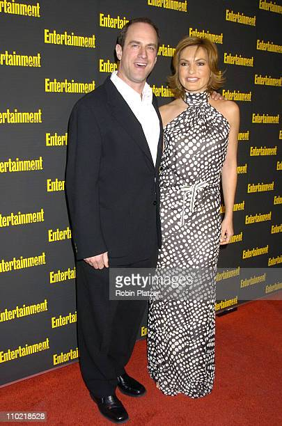 Mariska Hargitay and Christopher Meloni during Entertainment Weekly 11th Annual Oscar Viewing Party at Elaines Restaurant in New York City New York...