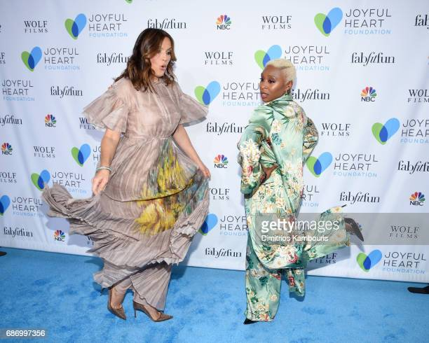 Mariska Hargitay and Cynthia Erivo dance on the carpet at The Joyful Revolution Gala In New York City hosted by Mariska Hargitay's Joyful Heart...