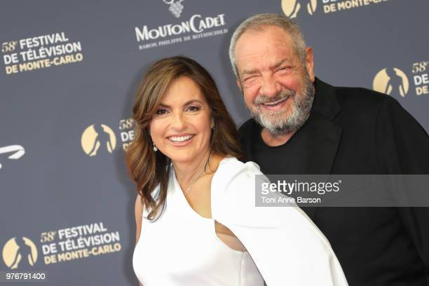 Mariska Hargitay and Dick Wolf attend the opening ceremony of the 58th Monte Carlo TV Festival on June 15 2018 in MonteCarlo Monaco