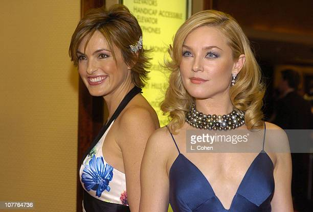 Mariska Hargitay and Elisabeth Rohm during 56th Annual Writers Guild Awards Arrivals at Century Plaza Hotel in Los Angeles California United States