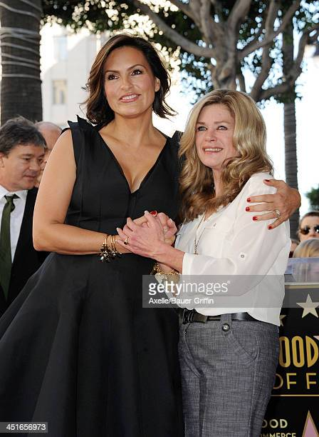 Mariska Hargitay and halfsister Jayne Marie Mansfield attend the ceremony honoring Mariska Hargitay with a Star on The Hollywood Walk of Fame on...