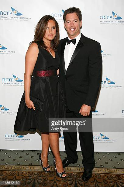 Mariska Hargitay and Harry Connick Jr attend the 2012 National Corporate Theatre Fund gala at The Pierre Hotel on April 30 2012 in New York City