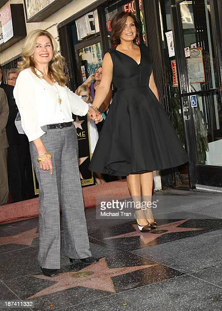 Mariska Hargitay and her halfsister Jayne Marie Mansfield attend the ceremony honoring Mariska Hargitay with a Star on The Hollywood Walk of Fame on...
