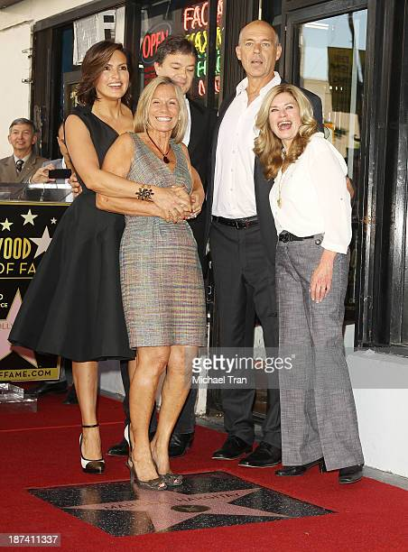 Mariska Hargitay and her siblings attend the ceremony honoring Mariska Hargitay with a Star on The Hollywood Walk of Fame on November 8 2013 in...
