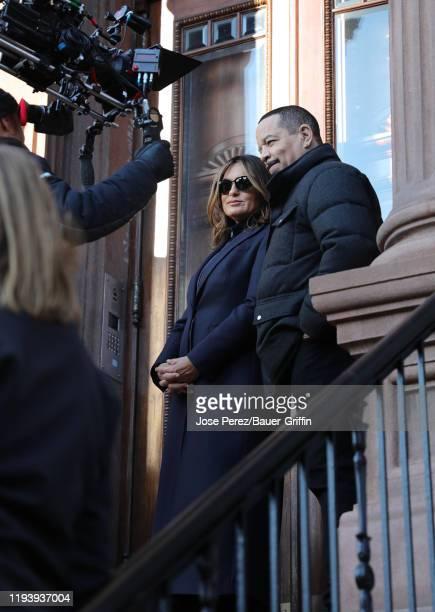Mariska Hargitay and Ice T are seen on January 15 2020 in New York City