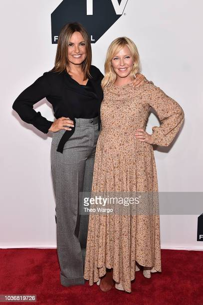 Mariska Hargitay and Kelli Giddish attend the Law Order SVU 20th Anniversary Celebration the 2018 Tribeca TV Festival at Spring Studios on September...