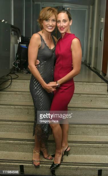 Mariska Hargitay and Kim Raver during 16th Annual Conde Nast Traveler Readers Choice Awards Inside at The Guggenheim Museum in New York City New York...