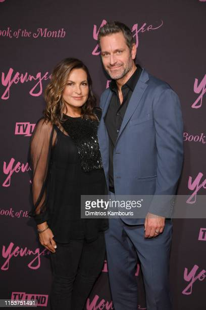 Mariska Hargitay and Peter Hermann attend Younger Season 6 New York Premiere at William Vale Hotel on June 04 2019 in New York City
