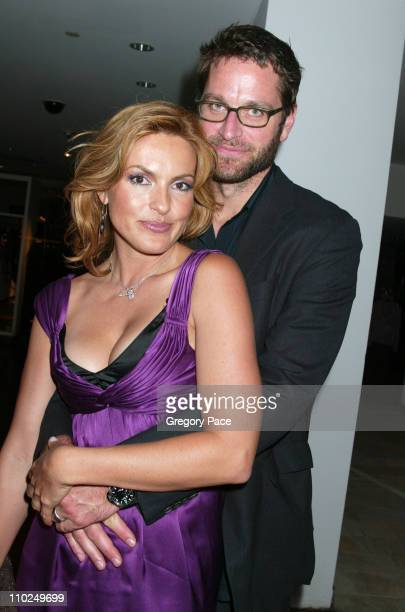 Mariska Hargitay and Peter Hermann during ELLE Magazine's 21st Birthday VIP Bash Benefiting EIF's National Colorectal Cancer Research Party and...