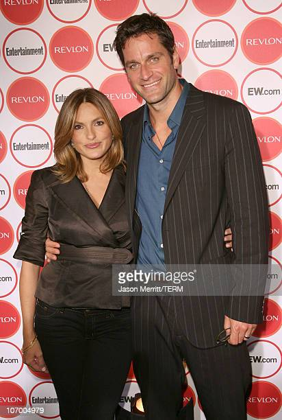 Mariska Hargitay and Peter Hermann during Entertainment Weekly's 4th Annual PreEmmy Party at Republic in West Hollywood California United States