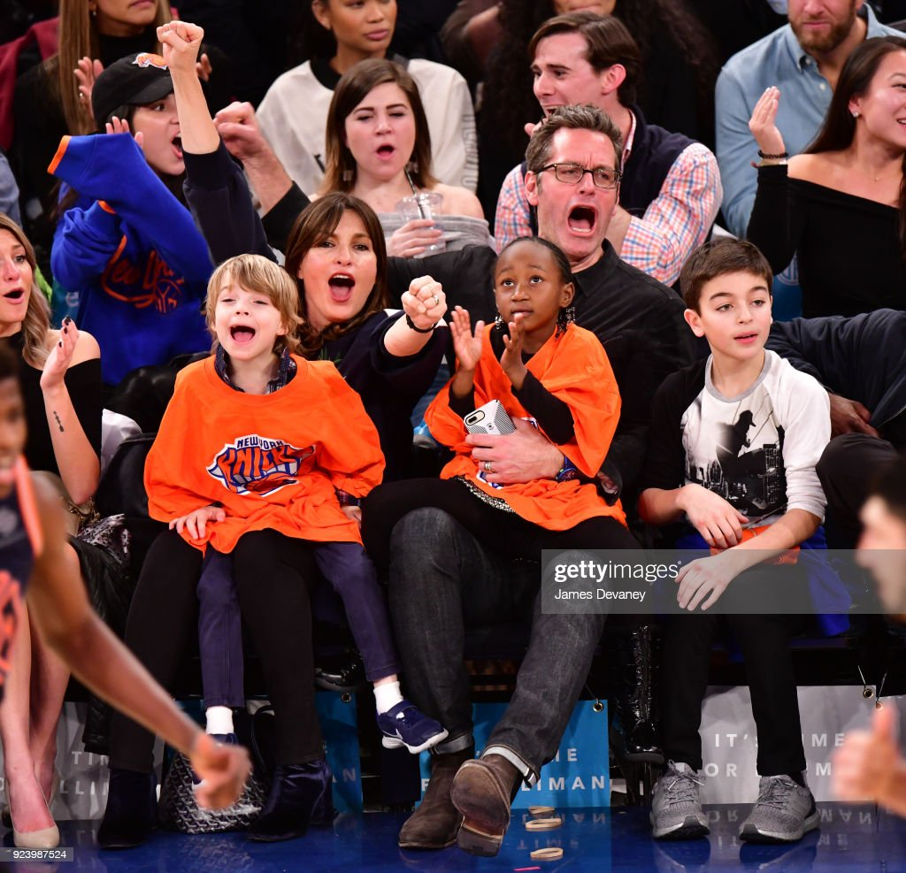 Celebrities Attend The New York Knicks Vs Boston Celtics Game