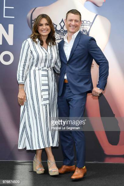 Mariska Hargitay and Philip Winchester from the serie 'Law Order SVU' attend a photocall during the 58th Monte Carlo TV Festival on June 17 2018 in...