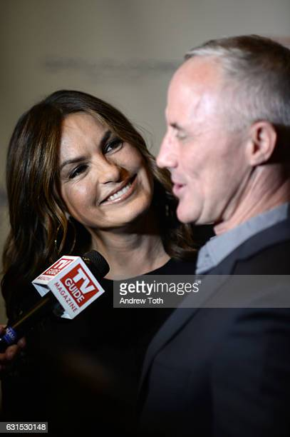 Mariska Hargitay and Robert John Burke attend TV Guide Celebrates Mariska Hargitay at Gansevoort Park Avenue on January 11 2017 in New York City