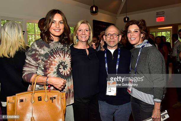 Mariska Hargitay Anne Chaisson Bob Balaban and Peggy Siegal attend Variety's 10 To Watch Brunch and Panel during the Hamptons International Film...