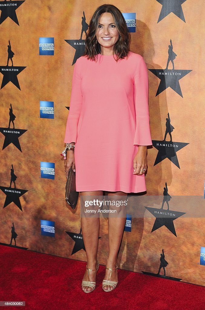 Mariska Hargitay attends 'Hamilton' Broadway Opening Night at Richard Rodgers Theatre on August 6, 2015 in New York City.