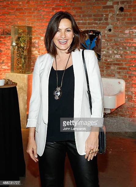 Mariska Hargitay attends the 2014 Pioneer Works Village Fete Fundraiser at Dustin Yellin's Pioneer Works on May 4 2014 in the Brooklyn borough of New...