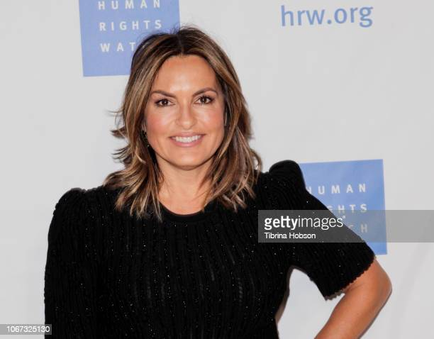 Mariska Hargitay attends the annual Voices for Justice Dinner hosted by Human Rights Watch at The Beverly Hilton Hotel on November 13 2018 in Beverly...