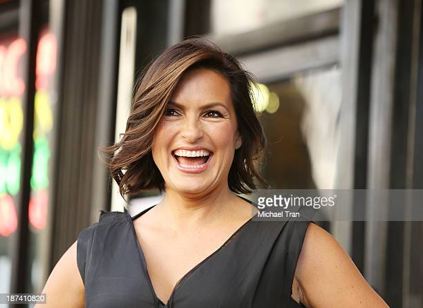Mariska Hargitay attends the ceremony honoring her with a Star on The Hollywood Walk of Fame on November 8 2013 in Hollywood California