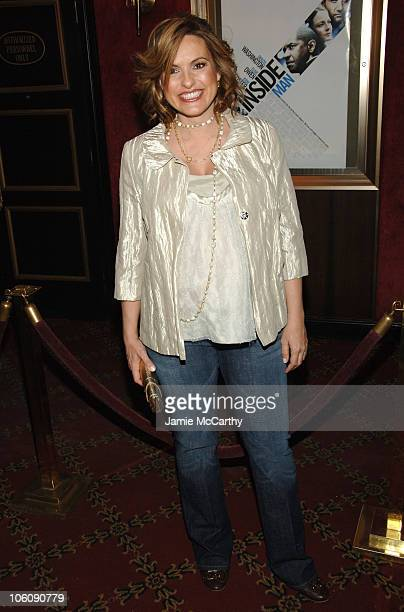 Mariska Hargitay during 'Inside Man' New York City Premiere Inside Arrivals at Ziegfeld Theater in New York City New York United States