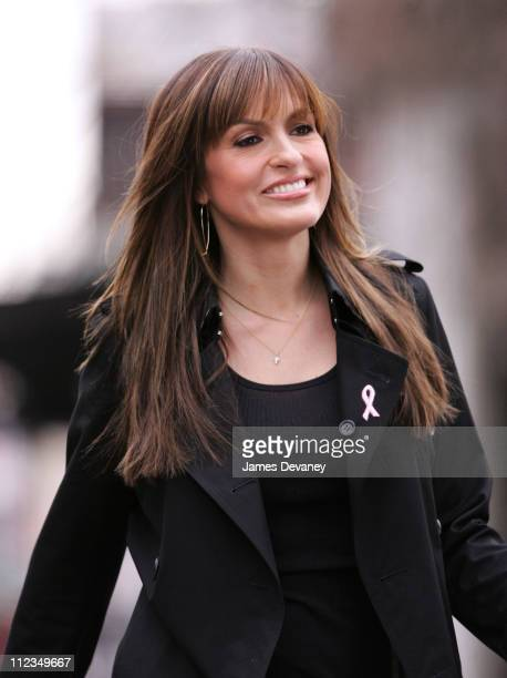 Mariska Hargitay during Mariska Hargitay Filming In Meat Packing District March 19 2007 at Meat Packing District in New York City New York United...