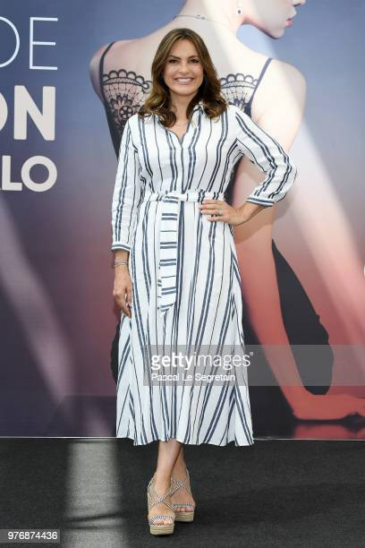 Mariska Hargitay from the serie Law Order SVU attends a photocall during the 58th Monte Carlo TV Festival on June 17 2018 in MonteCarlo Monaco
