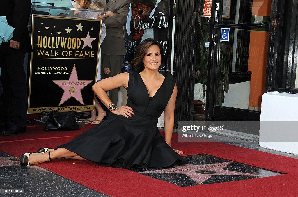 Mariska Hargitay Honored On The Hollywood Walk Of Fame held on November 8, 2013 in Hollywood, California.