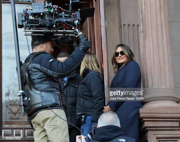 Mariska Hargitay is seen on January 15 2020 in New York City