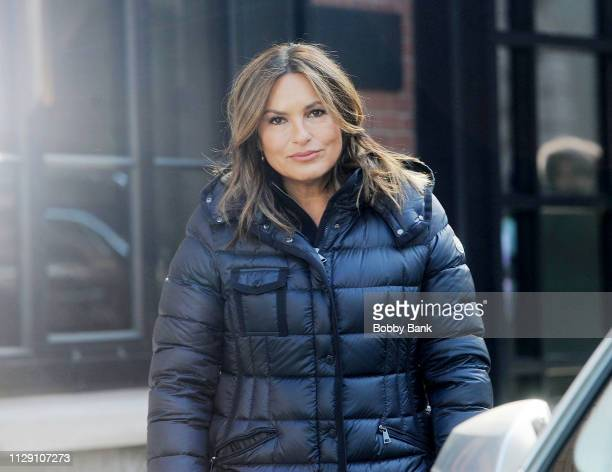 Mariska Hargitay on set for Law Order Special Victims Unit on March 7 2019 in New York City