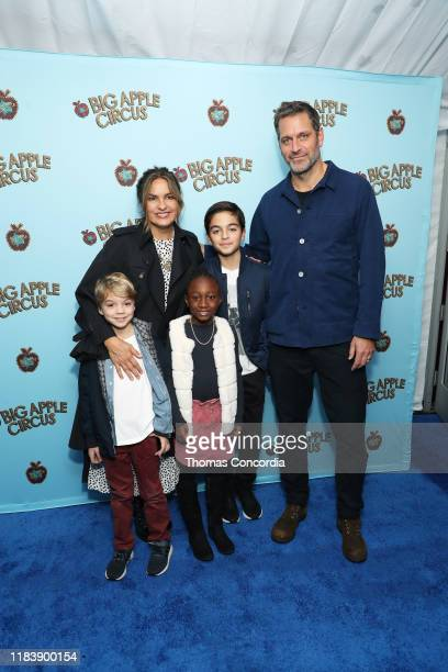 Mariska Hargitay Peter Hermann and family attend the Opening Night of Big Apple Circus at Lincoln Center with Celebrity Ringmaster Neil Patrick...