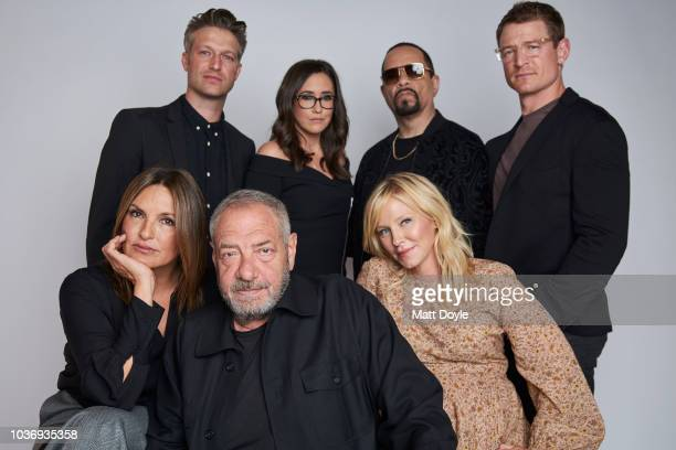 Mariska Hargitay Peter Scanavino and Dick Wolf of NBC's Law Order SVU Savannah Sellers from NBC News and Kelli Giddish IceT and Philip Winchester of...