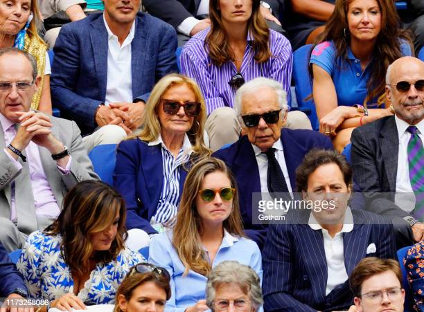 Mariska Hargitay, Ricky Anne Lowe-Beer, Lauren Bush Lauren, Ralph Lauren and David Lauren at 2019 US Open Final on September 08, 2019 in New York...