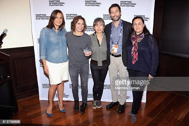 Mariska Hargitay Stacey Reiss Sharon Chang Jason Janego and Alexis Alexanian at the Serafina Brunch at the Hampton's International Film Festival 2016...