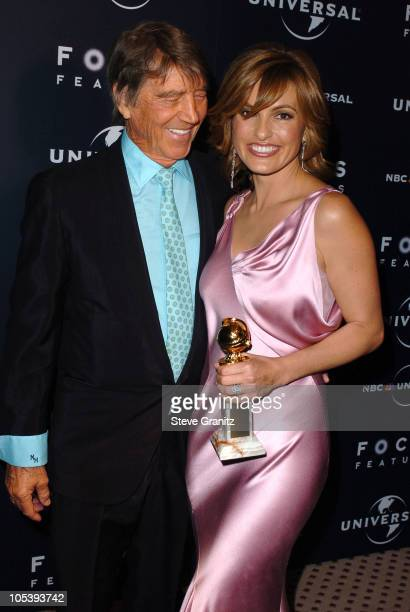 Mariska Hargitay winner of Best Actress in a Television Drama Series for 'Law Order Special Victims Unit' and father Mickey Hargitay
