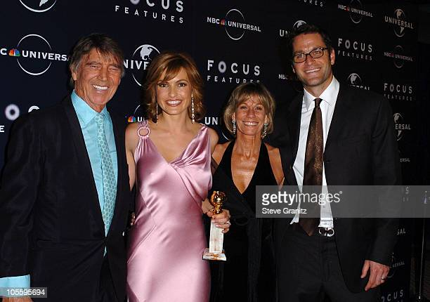 Mariska Hargitay winner of Best Actress in a Television Drama Series for Law Order Special Victims Unit with father Mickey Hargitay and guests
