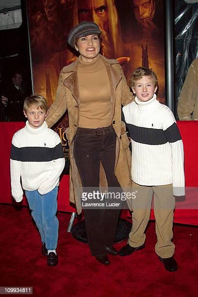 Mariska Hargitay with godsons Dylan and Conor McDermott