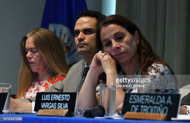 Marisol Blanchard cabinet chief of the Inter American Commission on Human Rights Paulo Abrao executive secretary of the IACHR and Antonia Urrejola...