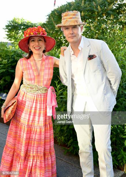 Marisol Deluna and Rod Keenan attend the 2018 High Line Hat Party at the The High Line on June 14 2018 in New York City