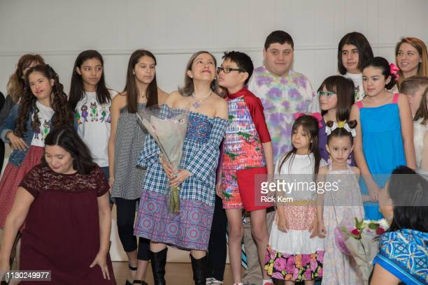 Marisol Deluna and students attend the Marisol Deluna Foundation Community Fashion Show at the San Antonio Garden Center on February 16 2019 in San...