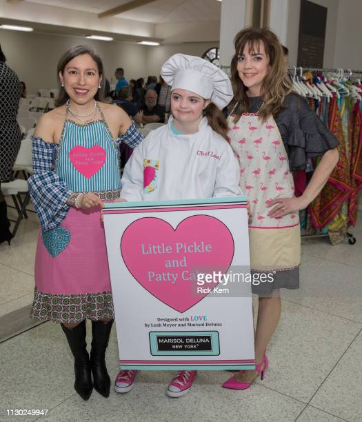 Marisol Deluna Leah Meyer and Karen Meyer attend the Marisol Deluna Foundation Community Fashion Show at the San Antonio Garden Center on February 16...