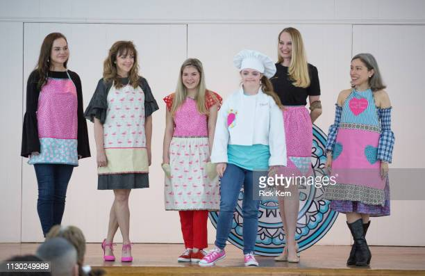 Marisol Deluna Leah Meyer Karen Meyer and students attend the Marisol Deluna Foundation Community Fashion Show at the San Antonio Garden Center on...