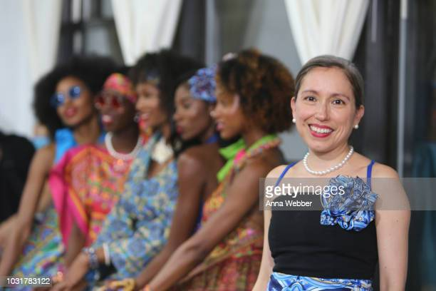 Marisol Deluna poses with models in the Marisol Deluna New York Fashion Week presentation at Tals Studio on September 11 2018 in New York City