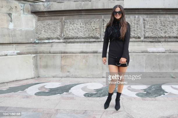 Marisol Gonzalez attends the Benito Santos fashion show at Mercedes Benz Fashion Week Mexico at Angel De La Independencia on October 7 2018 in Mexico...