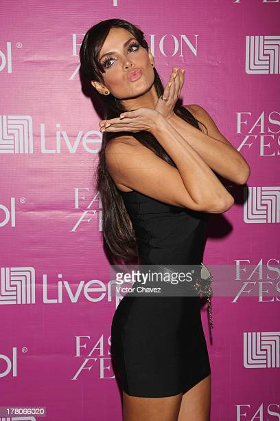 Marisol Gonzalez attends the Liverpool Fashion Fest Autumn/Winter 2013 at Club de Banqueros on August 22 2013 in Mexico City Mexico