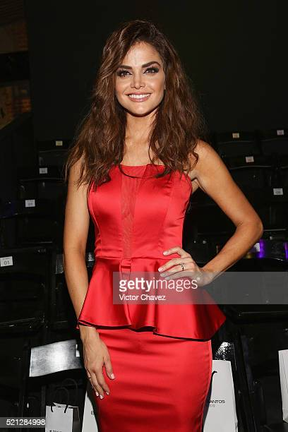 Marisol Gonzalez attends the third day of MercedesBenz Fashion Week Mexico Autumn/Winter 2016 at Auditorio BlackBerry on April 13 2016 in Mexico City...